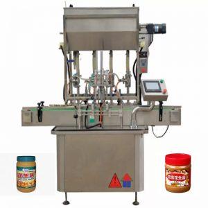 4 노즐 꿀 병 충전물 기계
