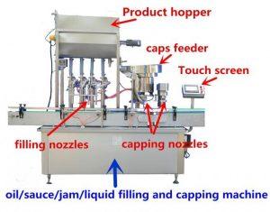 500ml를위한 높은 정밀도 꿀 충전물 기계